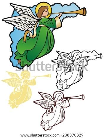 Angel corner ornament - stock photo