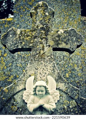 angel cross - stock photo