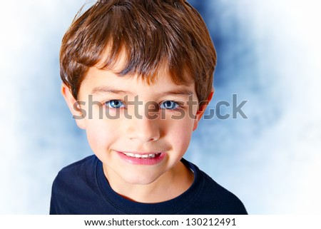 Angel face boy - stock photo