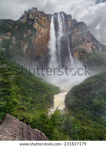 Angel Falls, Canaima National Park, Venezuela. - stock photo
