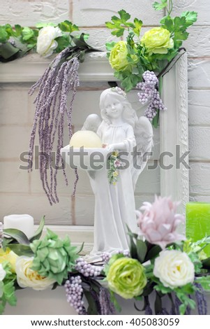 angel figurine - stock photo