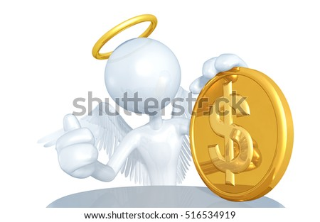 Angel Funding Character 3D Illustration