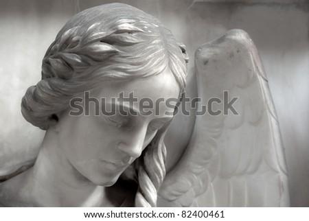 angel headshot - stock photo