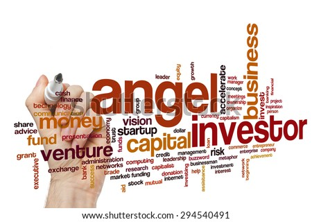 Angel investor concept word cloud background - stock photo