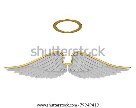 angel isolated on a white background. - stock photo