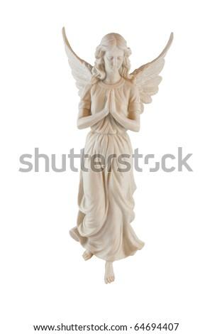 Angel isolated on white - stock photo