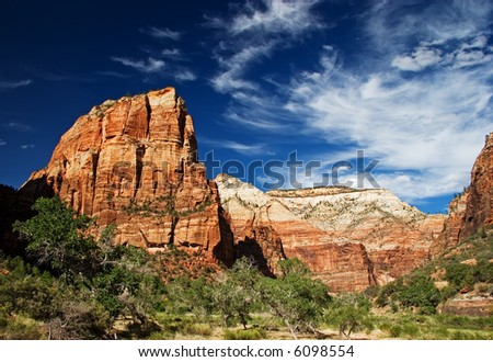 Angel's Landing, Zion National Park - stock photo