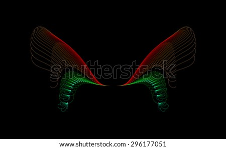 Angel's Wings abstract illustration - stock photo