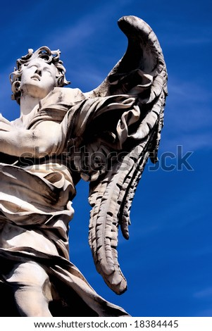 Angel, Saint Angel bridge, Rome - stock photo