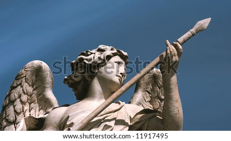 Angel, Sant'Angelo bridge, Rome - stock photo