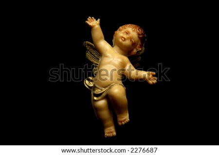 Angel sculpture - stock photo