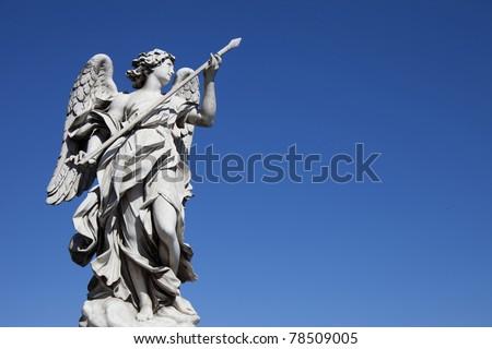 Angel Statue, Castel Sant'Angelo, Rome - stock photo