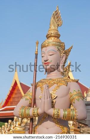Angel thai molding art statue - stock photo