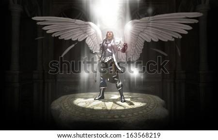 angel warrior - stock photo
