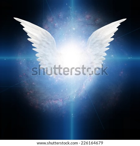 Angel winged Elements of this image furnished by NASA - stock photo