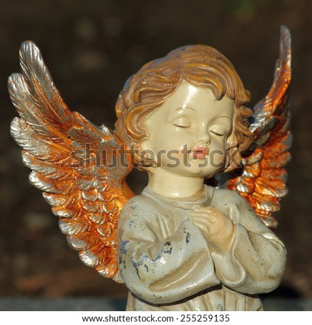 angelic figurine - stock photo