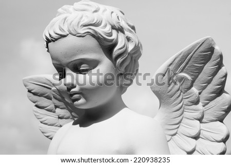 angelic statue  - stock photo