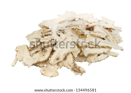 Angelica sinensis or Female Ginseng; unsharpen file - stock photo