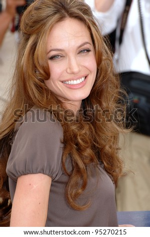 "Angelina Jolie at photocall for her new movie ""A Mighty Heart"" at the 60th Annual International Film Festival de Cannes. May 21, 2007  Cannes, France.  2007 Paul Smith / Featureflash - stock photo"