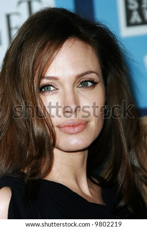 Angelina Jolie at the 2008 Film Independent Spirit Awards at Santa Monica Beach, Santa Monica, California