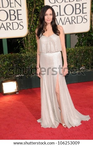 Angelina Jolie at the 66th Annual Golden Globe Awards. Beverly Hilton Hotel, Beverly Hills, CA. 01-11-09 - stock photo