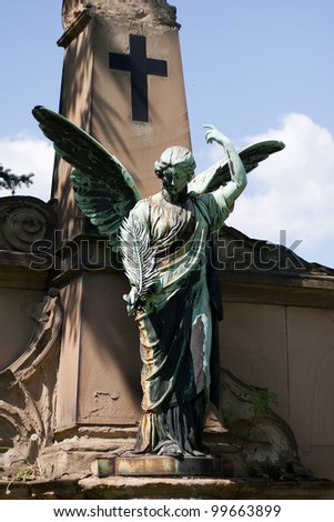 Angels figure from an old cemetery P�¶��neck - stock photo