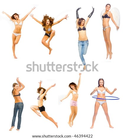 Angels of fitness - stock photo