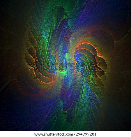 Angels Wings abstract illustration - stock photo