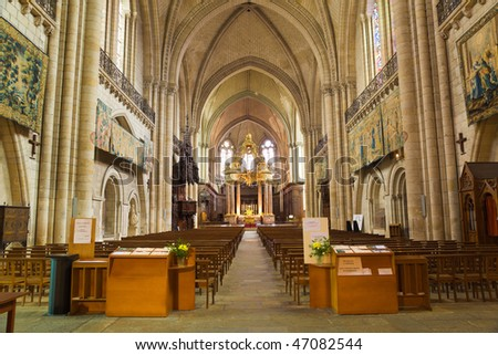Angers Cathedral interior. France