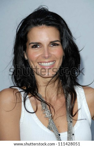 Angie Harmon at the 2007/2008 Chanel Cruise Show Presented by Karl Lagerfeld. Hanger 8, Santa Monica, CA. 05-18-07 - stock photo