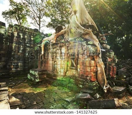 Angkor, Cambodia - stock photo