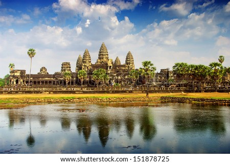 Angkor temple - stock photo