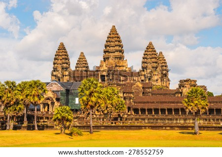 Angkor Wat (Capital Temple), Khmer temple in Cambodia. - stock photo