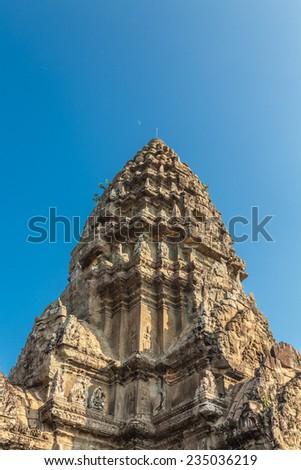 Angkor Wat castle, Cambodia. - stock photo