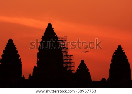 Angkor Wat In Sunrise - stock photo