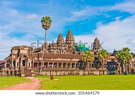 Angkor Wat, near Siem Reap, Cambodia, Southeast Asia - stock photo