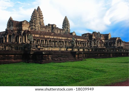 Angkor Wat temple, Cambodia - stock photo