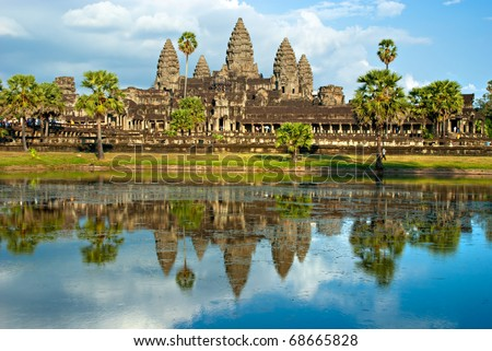 Angkor Wat Temple, Siem reap, Cambodia. - stock photo