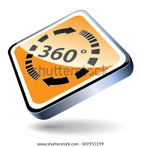 Angle 360 degrees sign icon. Full rotation.   - stock photo