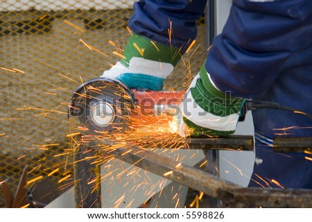 Angle grinder - stock photo