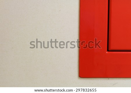 Angle of red steel on the wallpaper background. - stock photo