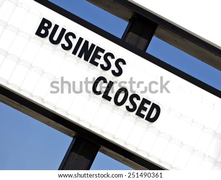Angled Business Closed Sign