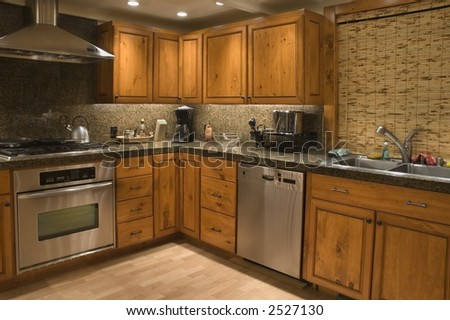 angled view of a kitchen