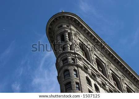 Angled view of flatiron building