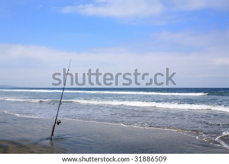 Angler Fiberglass Spinning Rod with Line Reel, Del Mar Shores, San Diego, CA