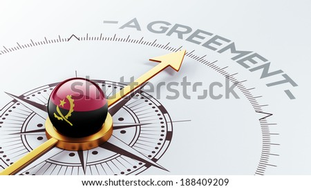 Angola High Resolution Agreement Concept - stock photo
