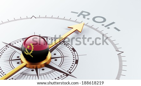 Angola High Resolution ROI Concept - stock photo