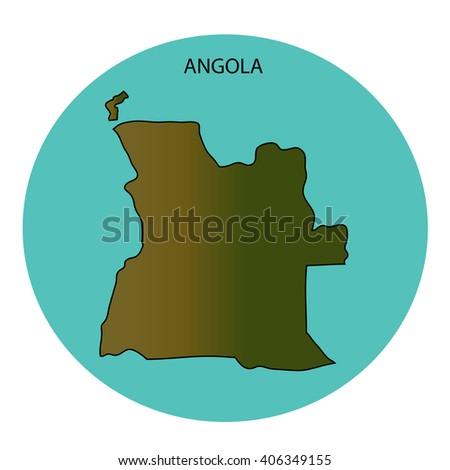 Angola Map - stock photo