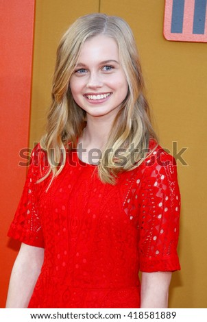 Angourie Rice at the Los Angeles premiere of 'The Nice Guys' held at the TCL Chinese Theatre in Hollywood, USA on May 10, 2016. - stock photo