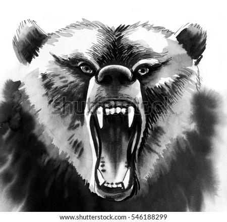 Watercolor Tiger Stock Illustration 550288672 - Shutterstock